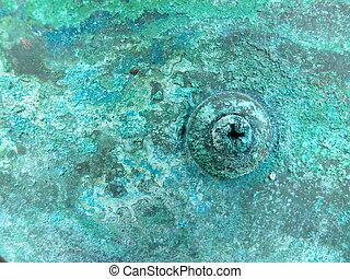 kupfer, korrosion, metall