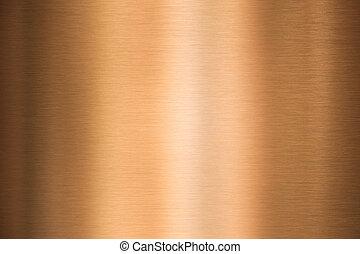kupfer, metall, beschaffenheit, gebürstet, oder, bronze