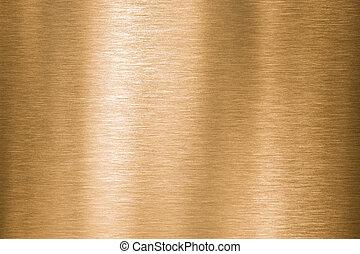 kupfer, metall, beschaffenheit, gold, gebürstet, oder, bronze