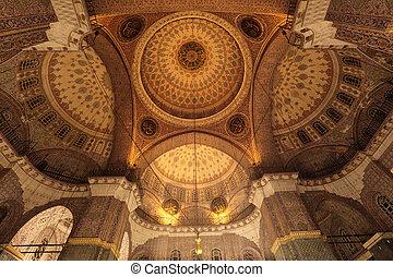 kupol, av, den, blå moské, in, istanbul, turkiet