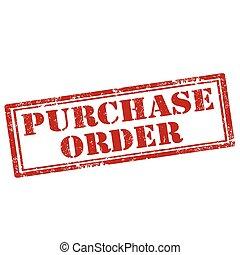 kupować, order-stamp