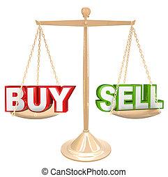 kupować, vs, słówko, na, tabela, porównywanie, ryzyka, i, korzyści