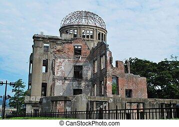 kuppel, hiroshima, ein-bombe