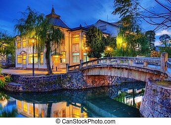 Famed Bridge and Canal of Kurashiki, Japan.