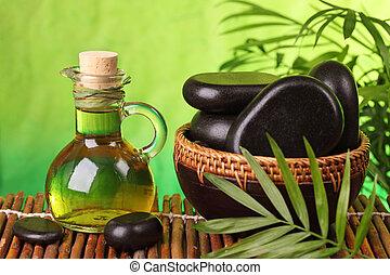 kurbad, destillationsapparat liv, hos, hede, sten