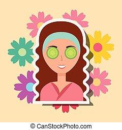 kurbad, kvinde, wellness