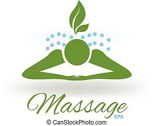 kurbad, massage, logo