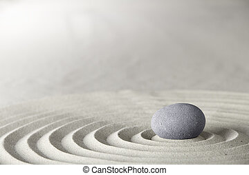 kurbad, zen, eller, baggrund