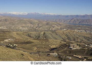 kurdistan, irak, region), hegyek, (northern