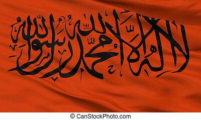 Kurdistan Islamic Group Flag Closeup Seamless Loop - The...