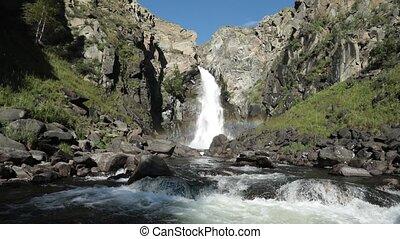 kurkure, сибирь, республика, алтай, водопад, россия, ...