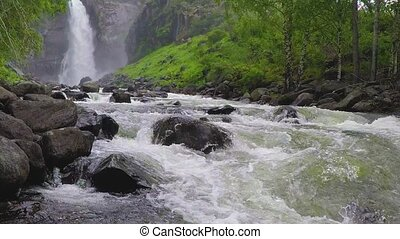 Kurkure waterfall. Altai Mountains Siberia Russia
