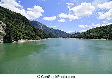 Kurobe lake in Toyama, Japan