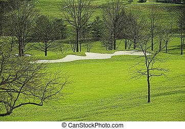 kurs, golfen