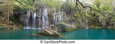 Kursunlu Waterfall View - View of Kursunlu Waterfall in...