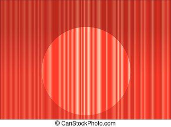 kurtyna, czerwony