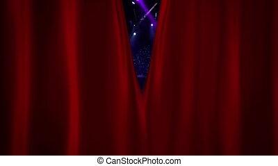 kurtyna, otwarcie, strumienica, koncert, czerwony