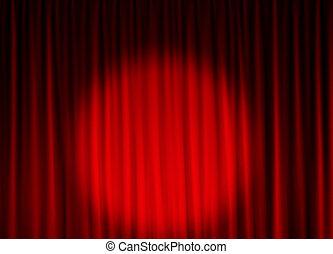 kurtyna, teatr, tło