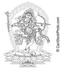 Kurukulle Bhagavati is a Buddhist Deity, a Goddess of Love.