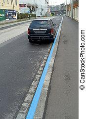 kurz park zone - a short-term parking zone in linz, upper...