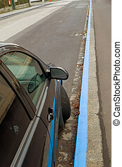 kurzparkzone - a short-term parking zone in linz, upper...