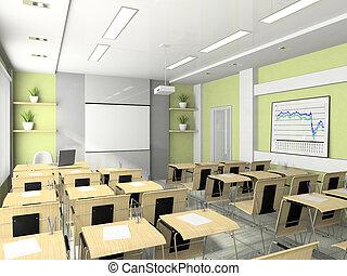 kurzy, setkání, seminář, lecture-room, studie, vnitřní, nebo