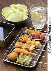 kushiage, japanese food