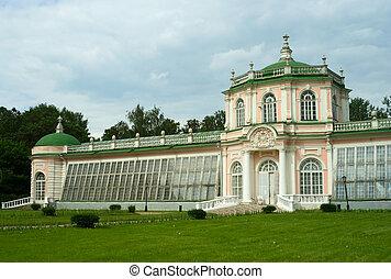 Kuskovo estate: Greenhouse - Greenhouse building in Kuskovo ...