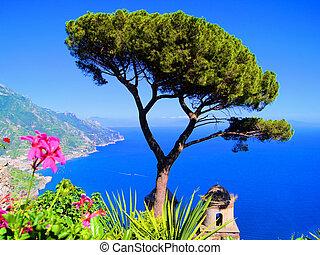 kust, amalfi, aanzicht