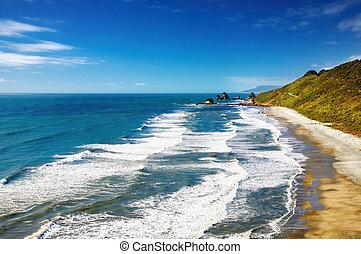 kust västerut, nya zeeland