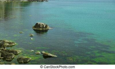 kust, zomer, aanzicht