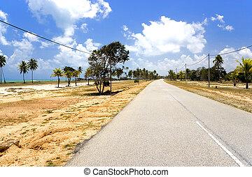 kuststraat, dorp