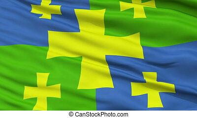 Kutaisi City Close Up Waving Flag