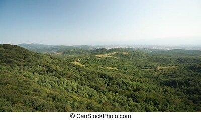Kutaisi, Georgia. Panorama Of State Sataplia Reserve. Summer Landscape