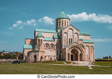 kutaisi, ortodoxo, bagrati, iglesia, century), ciudad, ...