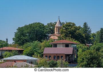 kutaisi, ortodoxo, perspectiva general, georgiano, iglesia, ...