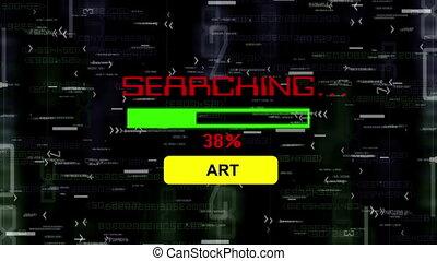 kutató, helyett, művészet, online