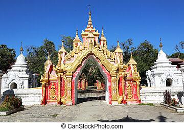 kuthodaw pagoda, マンダレイ, ミャンマー