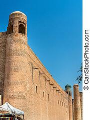 Kutlug Murad Inaq Madrasah at Itchan Kala, Khiva, Uzbekistan...