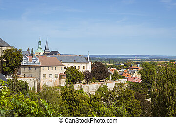 Kutna Hora from Saint Barbara's - KUTNA HORA, CZECH REPUBLIC...
