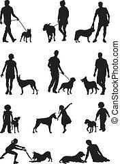 kutya, emberek