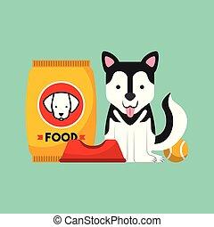 kutya, finom, élelmiszer
