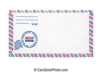 kuvert, flygpost