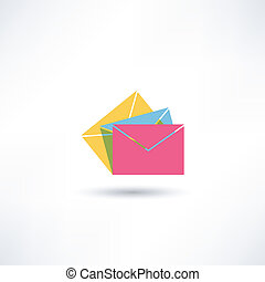 kuvert, ikon