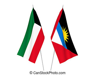 Kuwait and Antigua and Barbuda flags - National fabric flags...