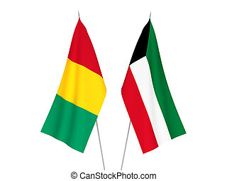 Kuwait and Guinea flags - National fabric flags of Kuwait ...