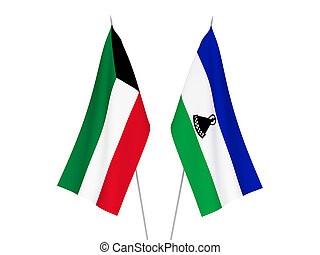 Kuwait and Lesotho flags - National fabric flags of Kuwait ...