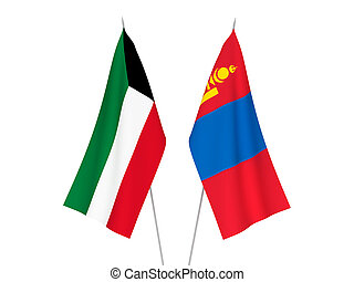 Kuwait and Mongolia flags - National fabric flags of Kuwait ...