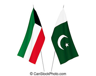 Kuwait and Pakistan flags - National fabric flags of Kuwait ...