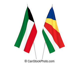 Kuwait and Seychelles flags - National fabric flags of ...